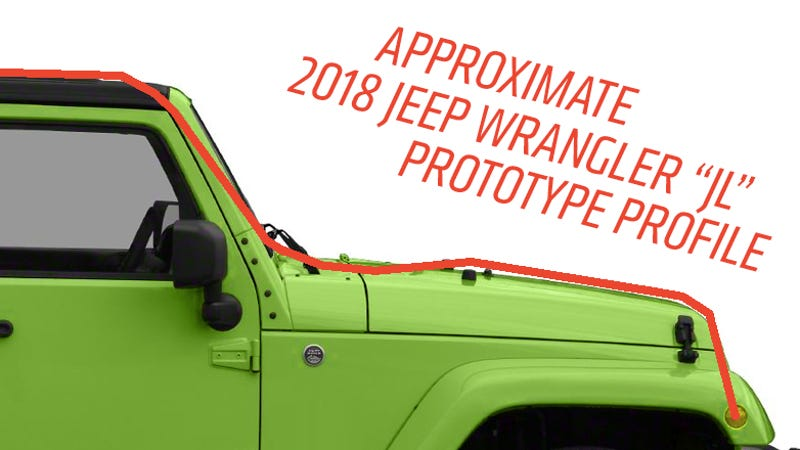 here 39 s about how much sleeker the new 2018 jeep wrangler will be. Black Bedroom Furniture Sets. Home Design Ideas