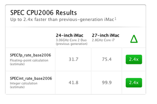 Illustration for article titled benchmarks for imac review
