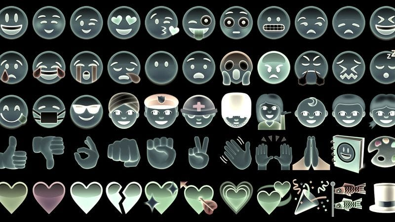 Illustration for article titled Read This: Emoji-oversight org is <sad face>, <surprised face>