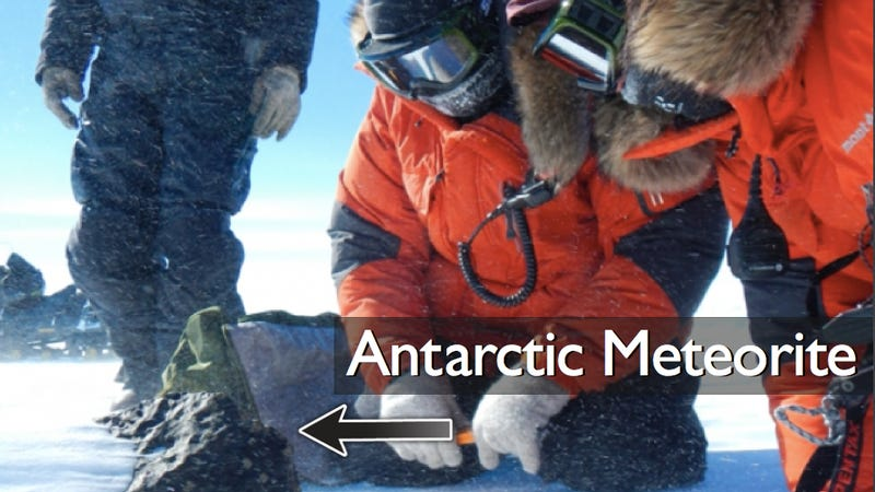 Illustration for article titled Meteorite discovered in Antarctica — what could go wrong?