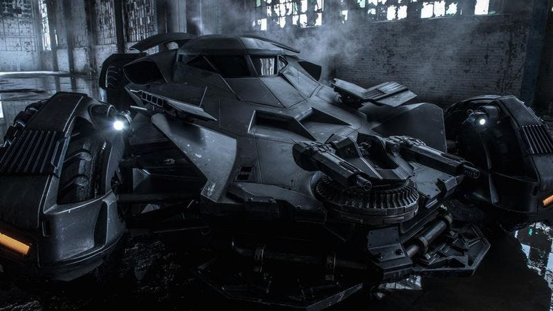 Illustration for article titled Zack Snyder reveals the very serious new Batmobile