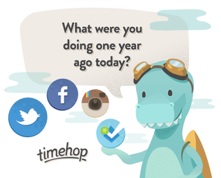 Illustration for article titled The weird nature of Timehop