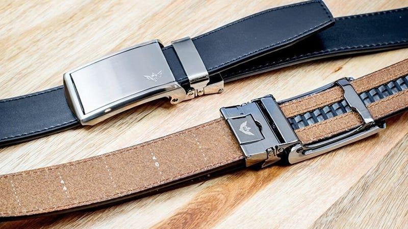 Cinturones SlideBelt de cuero para hombre | $45 | Amazon