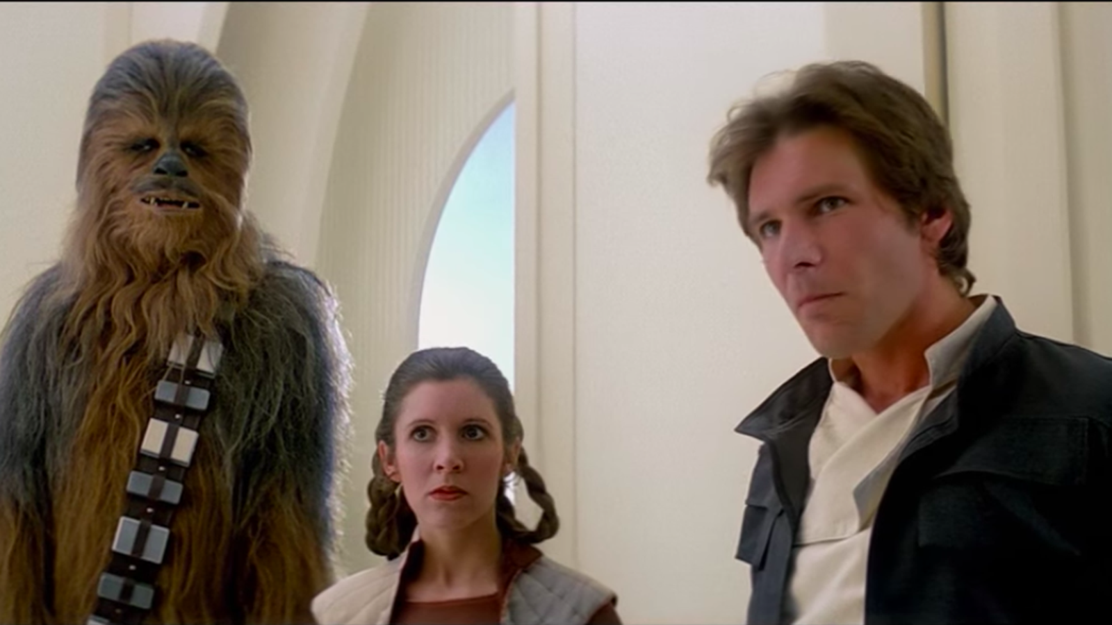 Yep, Han and Leia were definitely either drunk or high when they showed up on Cloud City
