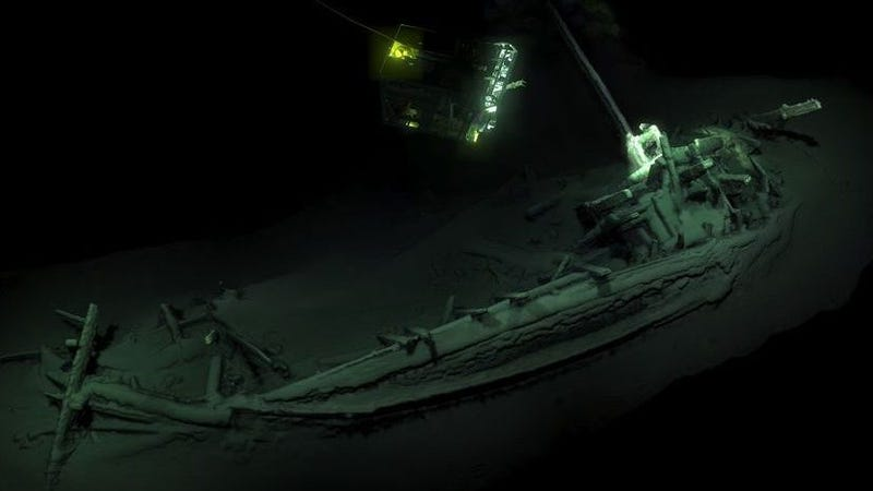 The ancient Greek merchant ship was found at the the bottom of the Black Sea near Bulgaria.