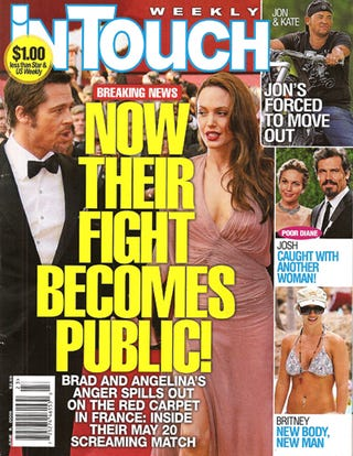 """Illustration for article titled This Week In Tabloids: Brad & Angie """"Fight"""" In Public; Jon & Kate Kids Suffer"""