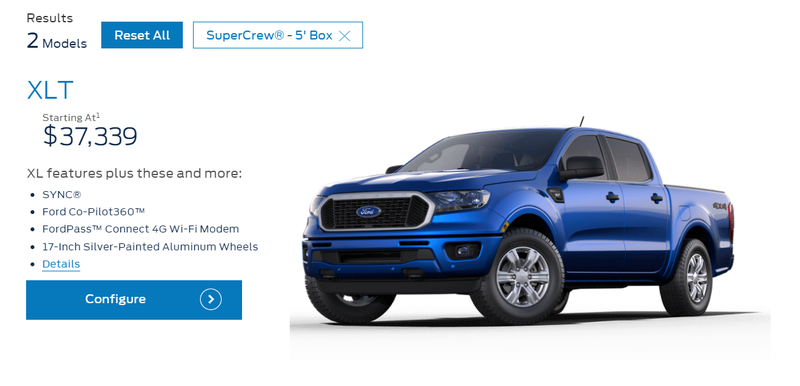 Illustration for article titled New Ford Ranger is out, let's check out pricing!