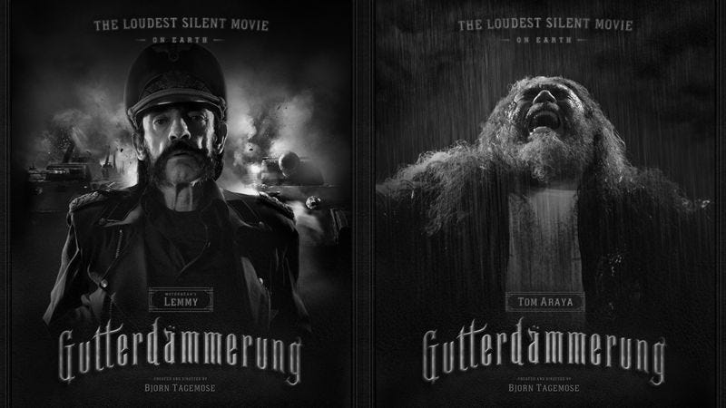Illustration for article titled Motörhead's Lemmy and Slayer's Tom Araya join that German silent Western