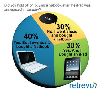 Illustration for article titled 30% of Netbook Shoppers Wooed By iPad Instead