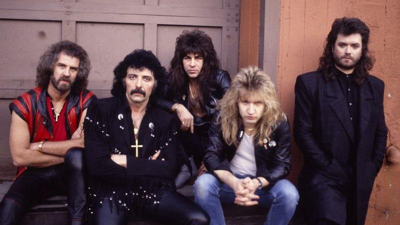 Geoff Nicholls (far left) with Black Sabbath in 1985 (Photo: Getty Images/WireImage, Chris Walter)