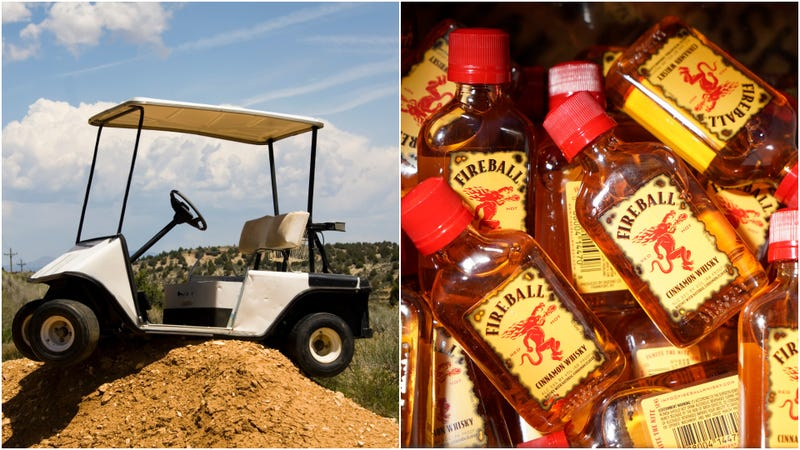 Illustration for article titled Florida man arrested in golf cart with 5 bottles of Fireball