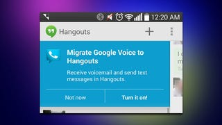 Illustration for article titled Google Voice Integration Finally Arrives in Hangouts