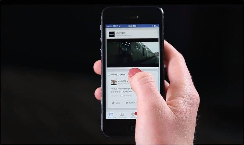 Illustration for article titled Llegan los vídeos publicitarios a tu muro de Facebook