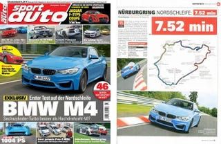 Illustration for article titled The BMW M4 Runs A 'Ring Time Of 7:52