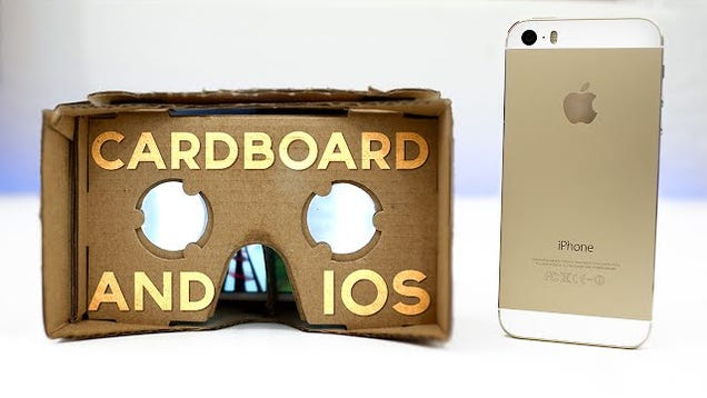 google cardboard 39 s cheap vr can work with iphones too. Black Bedroom Furniture Sets. Home Design Ideas