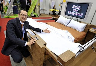 Say Hello To Selfy The Easy Bed. Yes, Thatu0027s The Name Of The Product. Itu0027s A  Bed That Makes Itself In The Morning, Using A Couple Of Rails ...