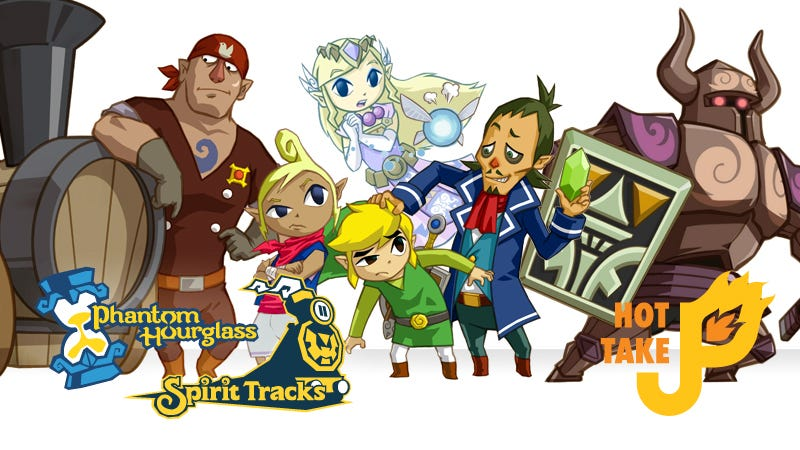Illustration for article titled Hot Take: The Legend of Zelda: Phantom Hourglass & Spirit Tracks (DS)