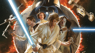 Illustration for article titled Alex Ross' Star Wars #1 cover is a beautiful tribute to Marvel's past