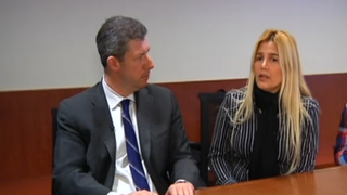 Maria Paez (right) and her lawyer, Daniel HochheiserNBC 4 New York screen grab