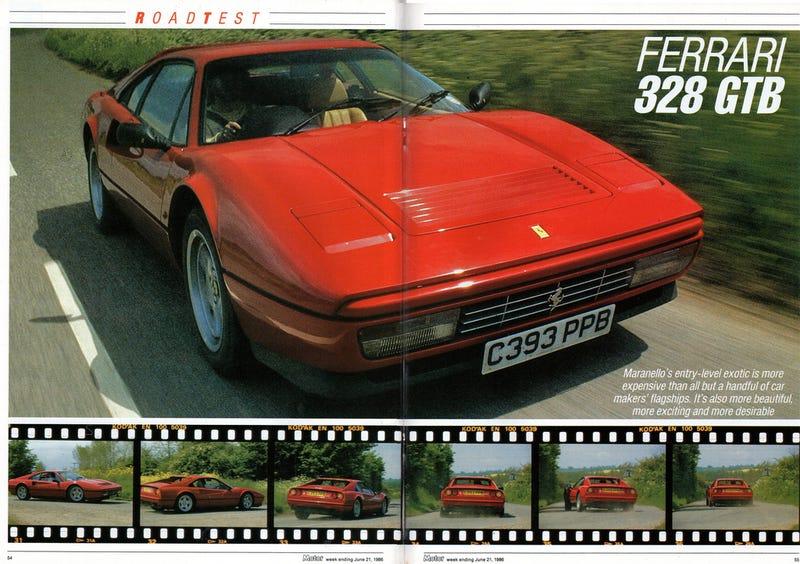 Illustration for article titled Ferrari 328 GTB road test, Motor, 21 June 1986