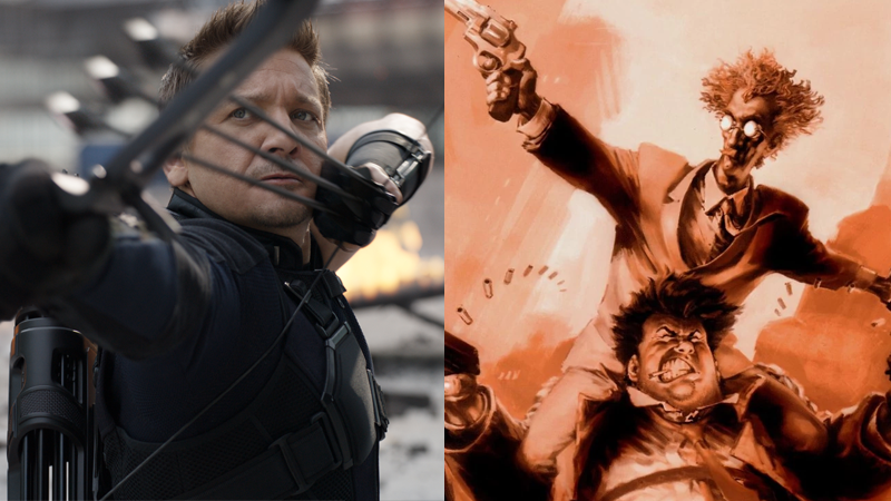 Jeremy Renner being good with a bow in Captain America: Civil War, and Twitch Williams being good with a gun in Case Files: Sam and Twitch #10.