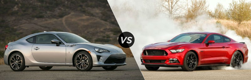 Illustration for article titled Oppo's choice: Toyobaru 86BRZ vs 2015+ Mustang (Updated)