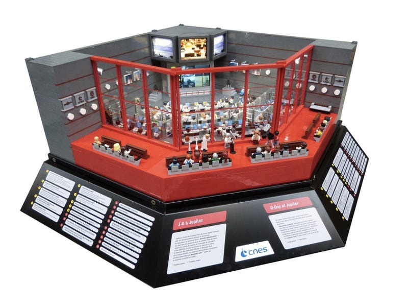 Illustration for article titled The European Space Agency's Jupiter Mission Control Made of Lego