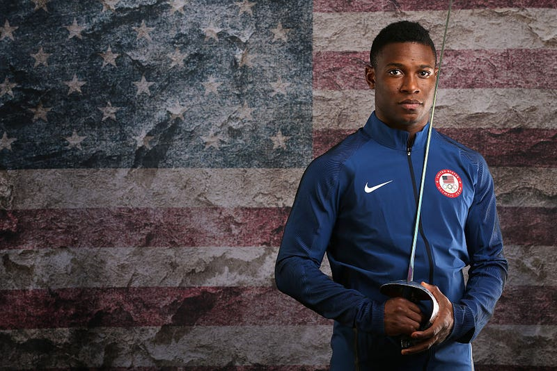 Fencer Daryl Homer poses for a portrait at the 2016 Team USA Media Summit at The Beverly Hilton Hotel on March 9, 2016. Sean M. Haffey/Getty Images