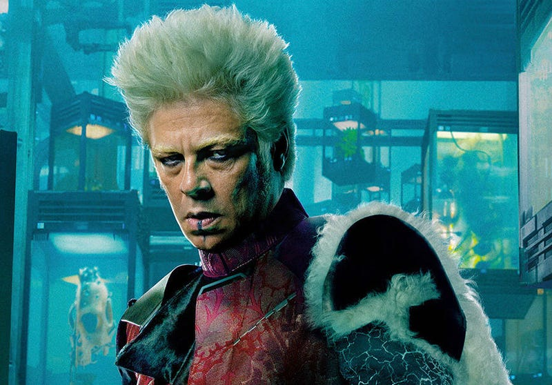 Benicio Del Toro as The Collector in Guardians of the Galaxy. He's now joining another scifi universe, Predator. Image: Marvel