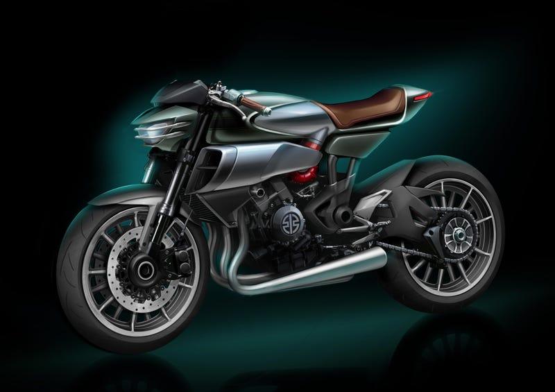 """Illustration for article titled The Kawasaki SC-02 """"Soul Charger"""" Concept Hints At Kawasaki's Future, 12 New Models Coming"""