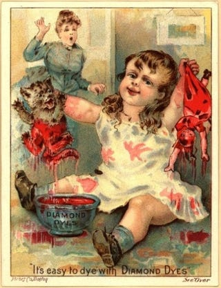 "Illustration for article titled Extremely Creepy Toddler Reminds Us That ""It's Easy To Dye"""