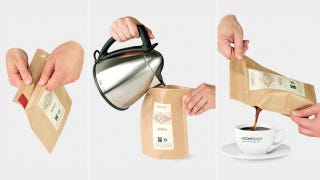 Illustration for article titled Could the World's First Disposable French Press Actually Brew a Decent Cup Of Coffee?