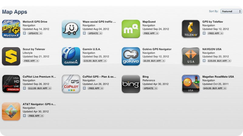 Illustration for article titled Apple Adds New Maps Section to App Store to Help You Replace the iOS 6 Horror Show