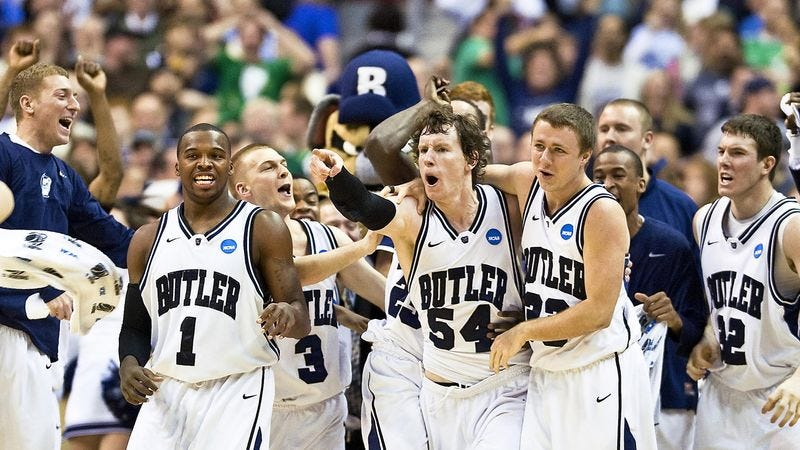 Illustration for article titled Butler Bulldogs Inspire Thousands Of Tall, Goony-Looking Midwestern Dorks