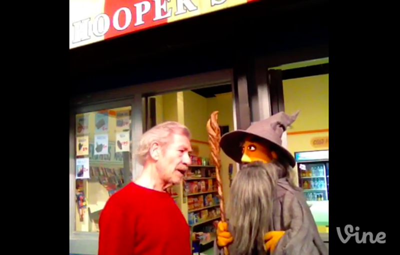 Illustration for article titled Sir Ian McKellen Meeting His Gandalf Puppet Makes Me Happy to Be Alive
