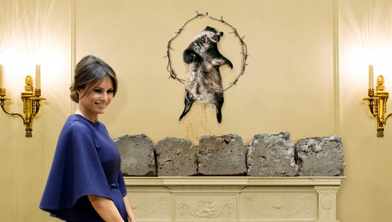 Illustration for article titled Melania Trump Hangs Decayed Badger Carcass Over White House Mantel To Finish Off Traditional Slovenian Christmas Decor