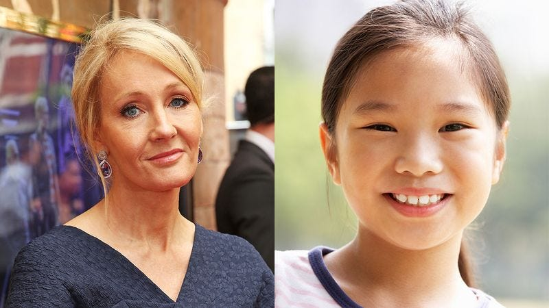 Illustration for article titled Awesome: When This 8-Year-Old Girl Told J.K. Rowling That She Liked 'Harry Potter,' The Author Said 'Yeah, No Shit'