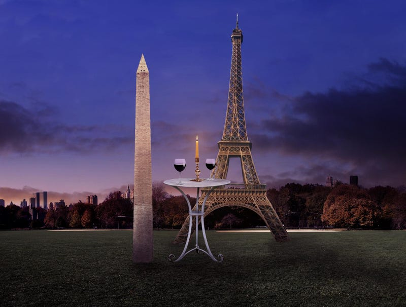 Illustration for article titled Washington Monument Set Up On Blind Date With Eiffel Tower