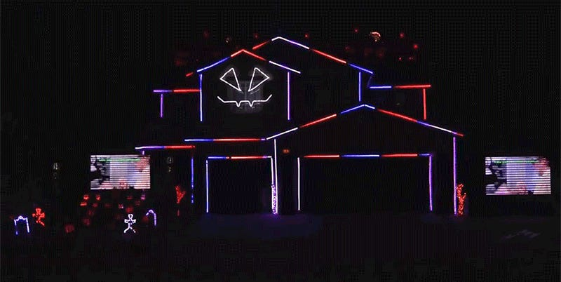 Spectacular Halloween Light Show Will Make You Glad You're Not ...