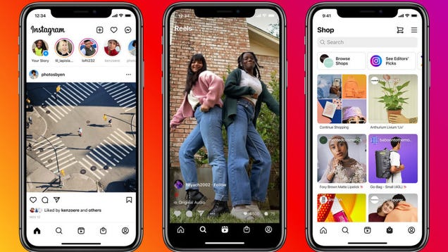 Instagram s New Home Page Features More Reels, More Shopping