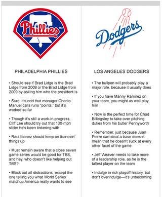 Illustration for article titled Philadelphia Phillies vs. Los Angeles Dodgers