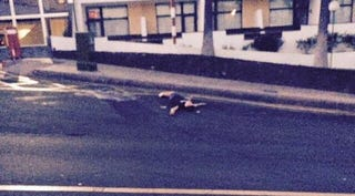 Illustration for article titled Premier League Starlet Pictured Passed Out In Middle Of The Road