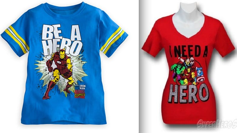 Illustration for article titled There Are No Lady Heroes, According To Sexist Avengers T-Shirts. Nope! None.
