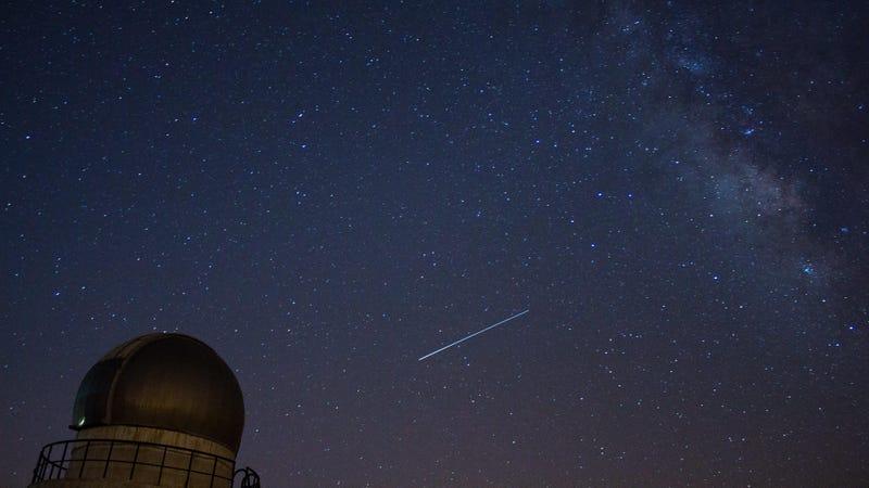 A Lyrid meteor