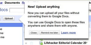 Illustration for article titled Google Docs Now Allowing Any Type of File Upload