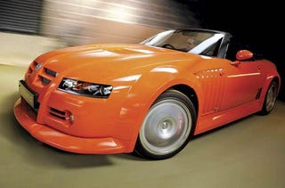 Illustration for article titled MG X-Power SV-S WRC Is The Drop Top British Supercar