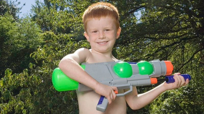 Illustration for article titled Probably Bullshit But Still A Little Scary: Ethan Is Claiming That His Super Soaker Is Filled With Pee