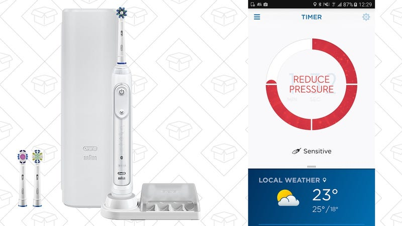 Oral-B Pro 7500 Smart Toothbrush | $100 | Amazon | Clip the $30 coupon