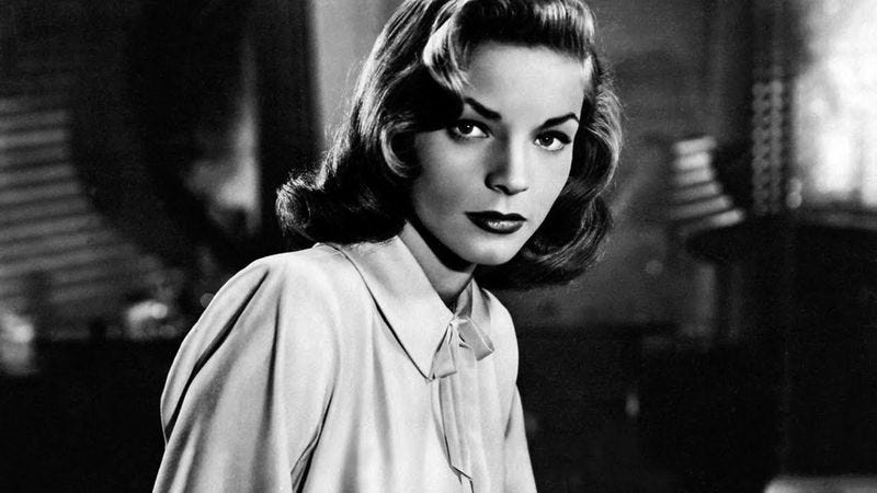 Illustration for article titled R.I.P. Lauren Bacall, glamorous siren of the Golden Age