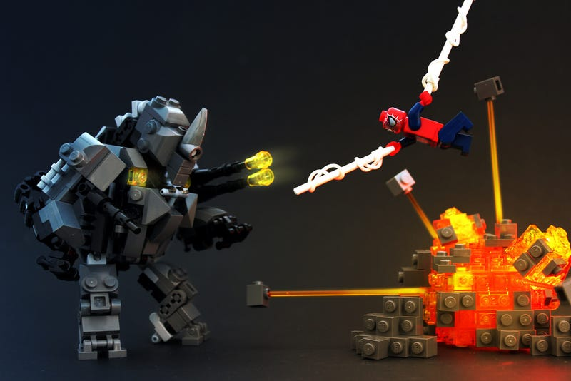Illustration for article titled Lego Movie Rhino From The Amazing Spider-Man 2